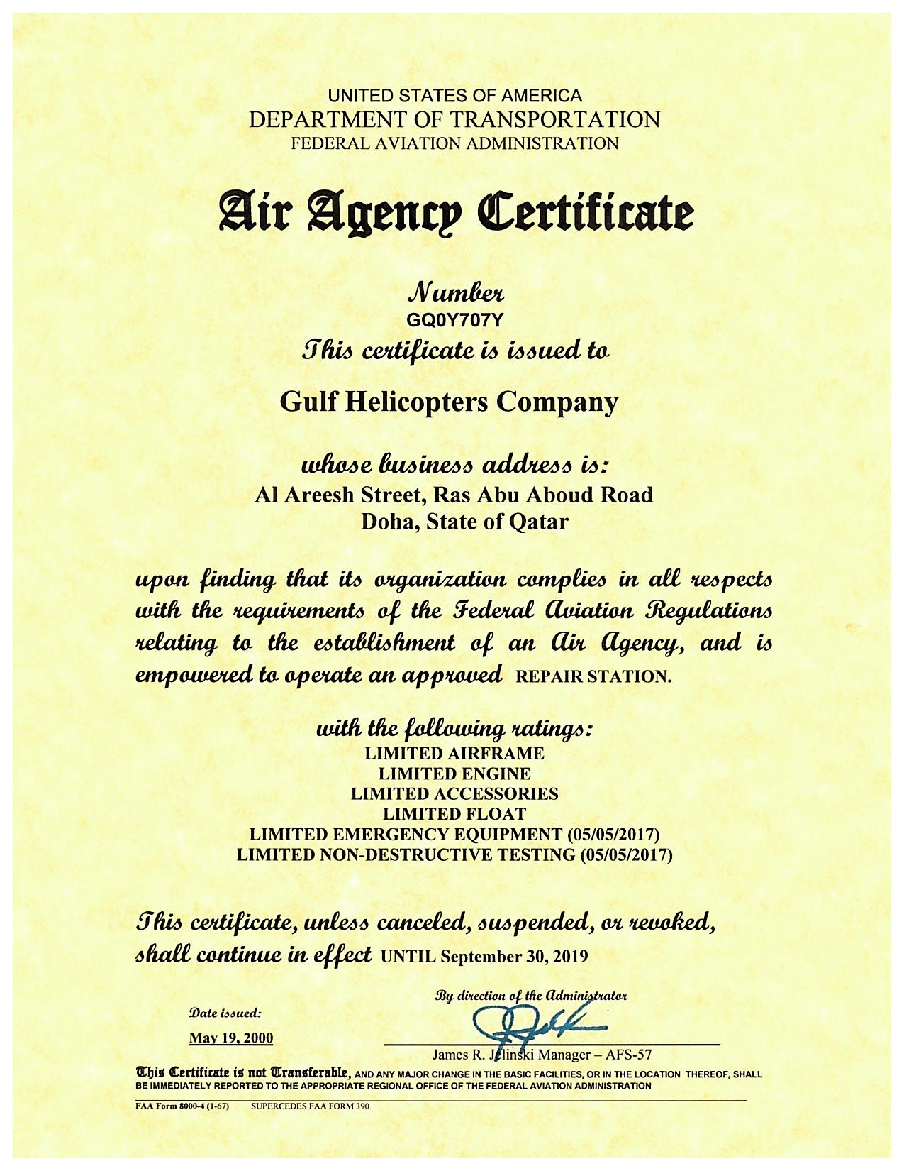 Awards Certifications Gulf Helicopters